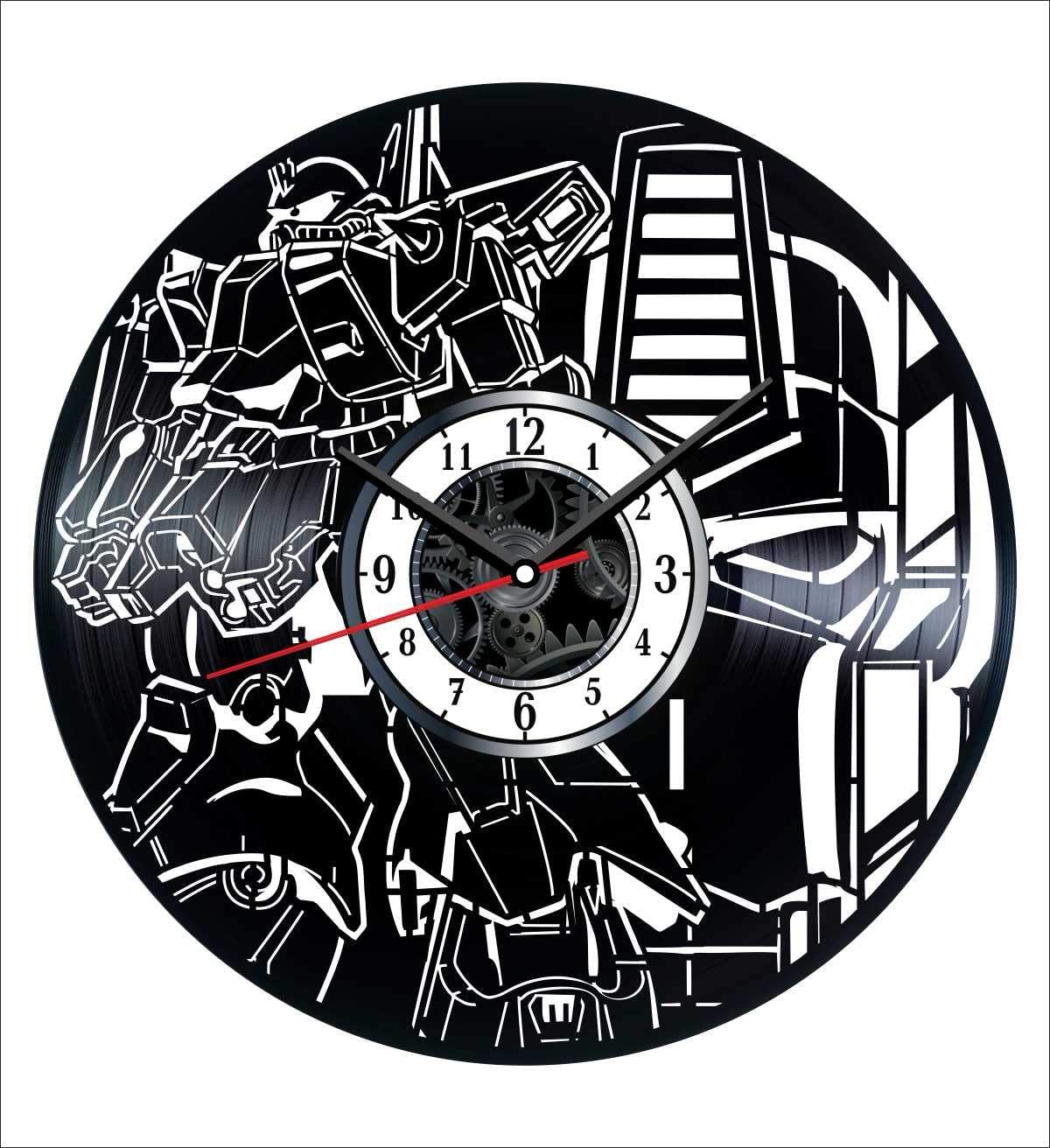 Transformers Vinyl Wall Clock Vintage Record - Get Unique Home and Office Decor Bedroom Kitchen Kids Living Room - Gifts for Men Women Kids Father Mother - Wall Art Design - Free Personalization
