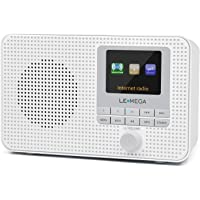 LEMEGA IR1 Portable Internet Radio,FM Digital Radio,WiFi,Bluetooth,Dual Alarms&Clock,Kitchen/Sleep/Snooze Timer,40 Pre…