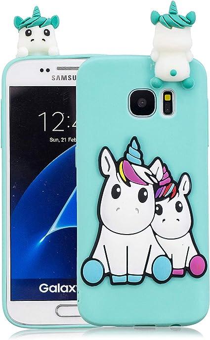 Funluna Coque Samsung Galaxy S7, 3D Licorne Motif Ultra Fine TPU ...