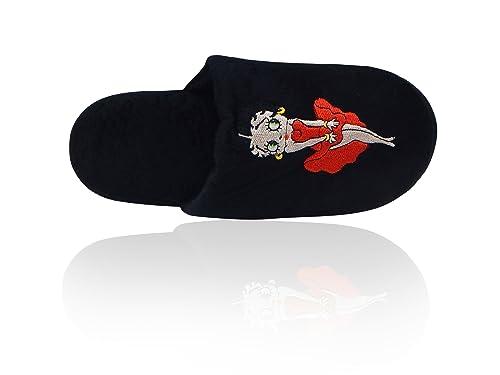 Amazon.com: Betty Boop - Zapatillas de peluche para mujer ...