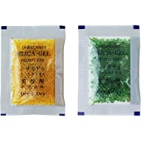 Dry & Dry [50 Packs 10 Gram Premium Blue Indicating(Blue to Pink) Silica Gel Packets - Rechargeable(Upgraded)