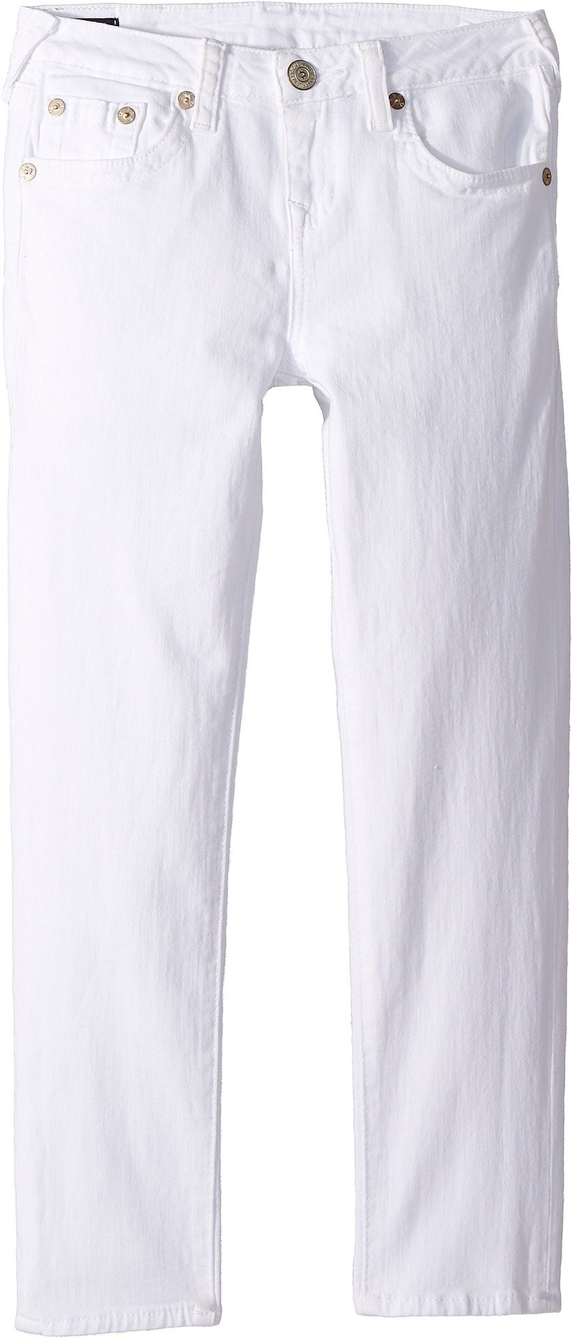 True Religion Kids Girl's Casey Ankle Skinny in Bleached White (Big Kids) Bleached White 16 by True Religion
