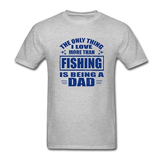 2c01b775 Amazon.com: CCBING Men's The Only Thing I Love More Than Fishing Is Being a Dad  T-Shirt: Clothing