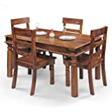 Royal Oak Emerald Four Seater Dining Table Set (Natural)