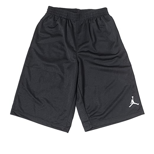 newest collection 8576a fba3a Nike Boys Air Jordan Mesh Athletic Basketball Shorts (Small, Black)