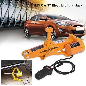 GOTOTOP 3 Tonelada 12V DC Automotor Coche Gato Eléctrico de Levantamiento Equipo Elevador de Emergencia para SUV Van Garaje: Amazon.es: Coche y moto