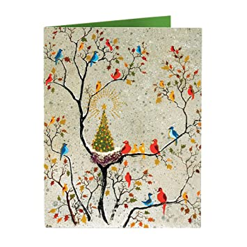 christmas cards holiday cards merry christmas cards boxed christmas cards birds 15 w envelopes