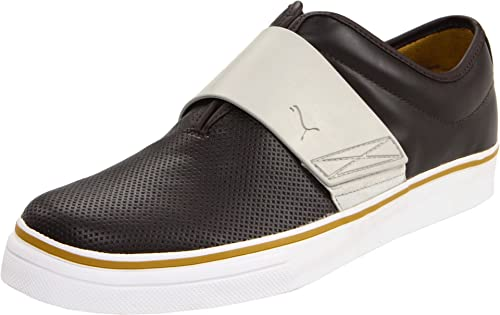 dc7c35c83d0 PUMA Men s EL Rey Cross Perf Leather Slip-On Sneaker
