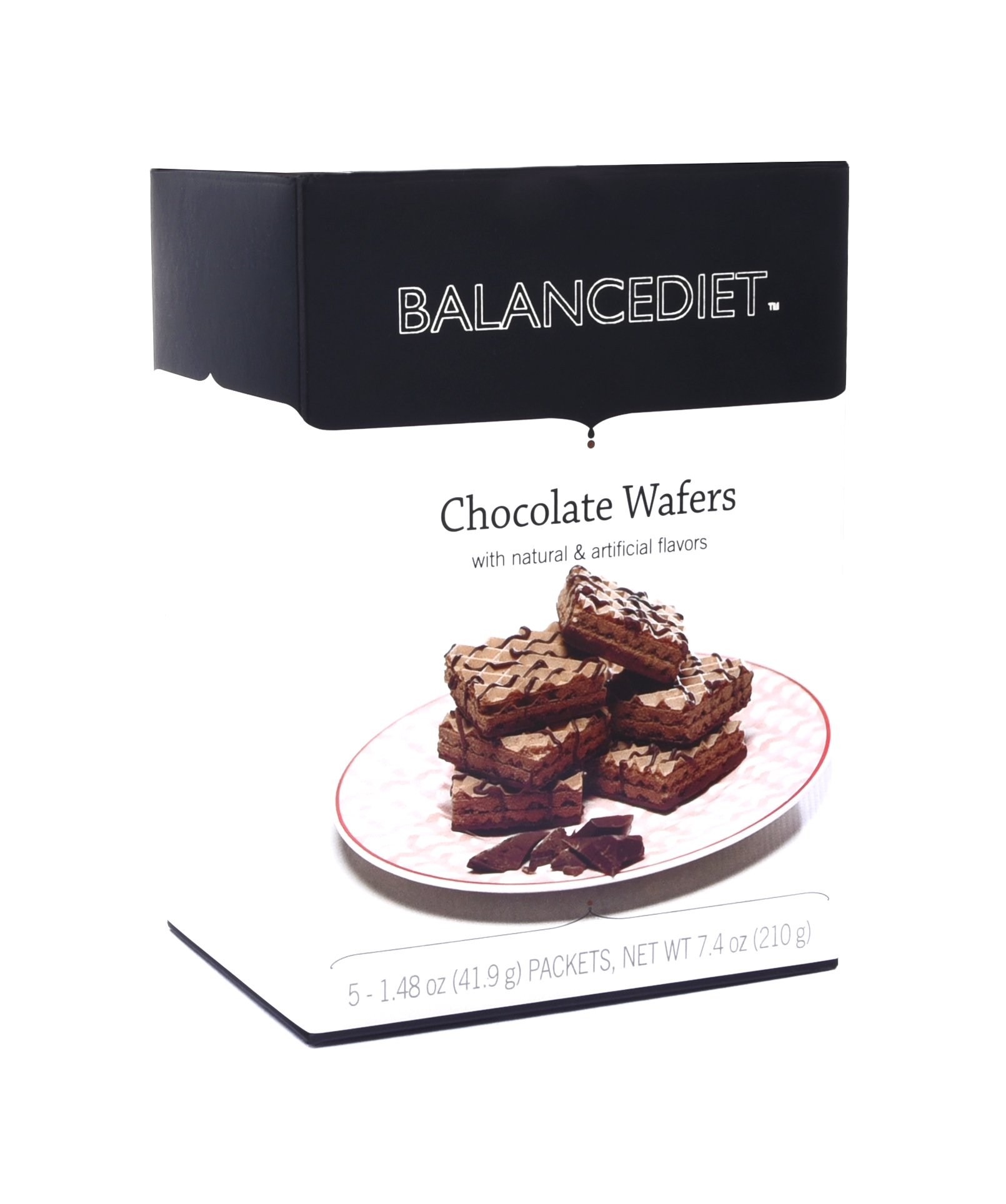 BalanceDiet | High Protein Chocolate Wafers | Healthy Snack or Dessert | 5 Pack