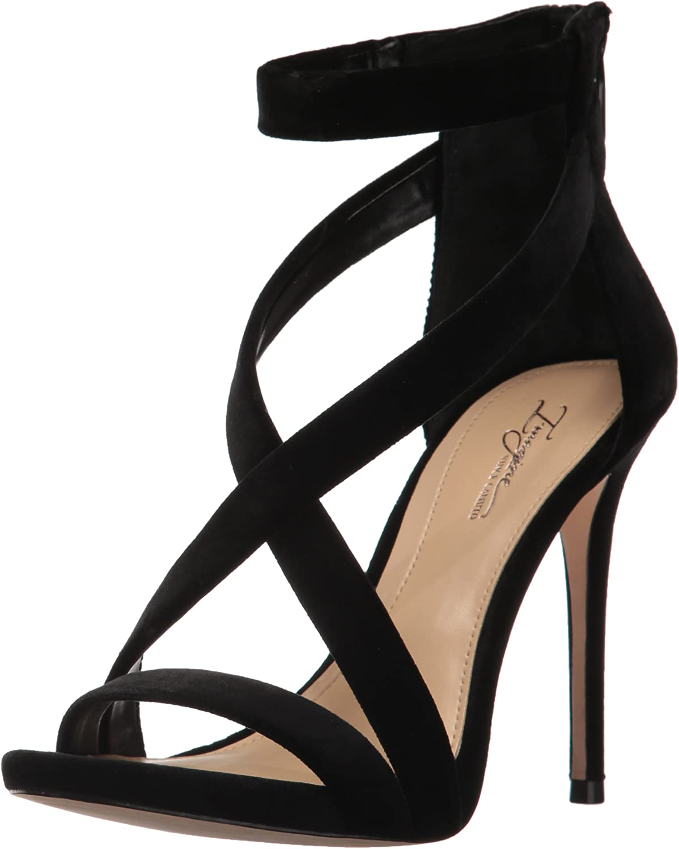 Imagine Vince Camuto DEVIN Black Lurex 8.5 M Women/'s High Heel Strap Sandal