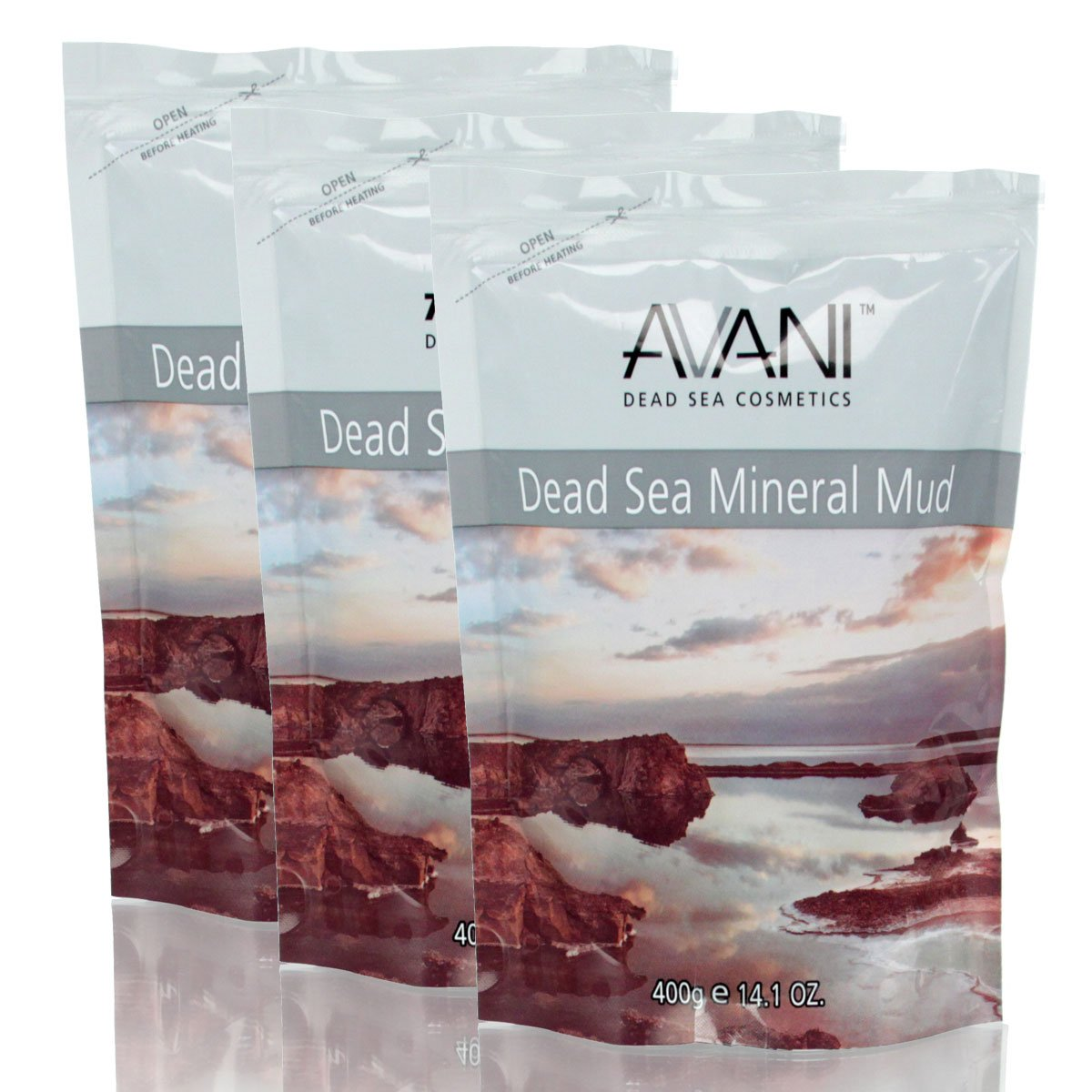AVANI Mineral Mud Bag lot of 3 for all types of skin. Rich in minerals & trace elements. Freshen cleanses & purifies skin. Improves circulation reduce muscle tension and ease rheumatic pains.