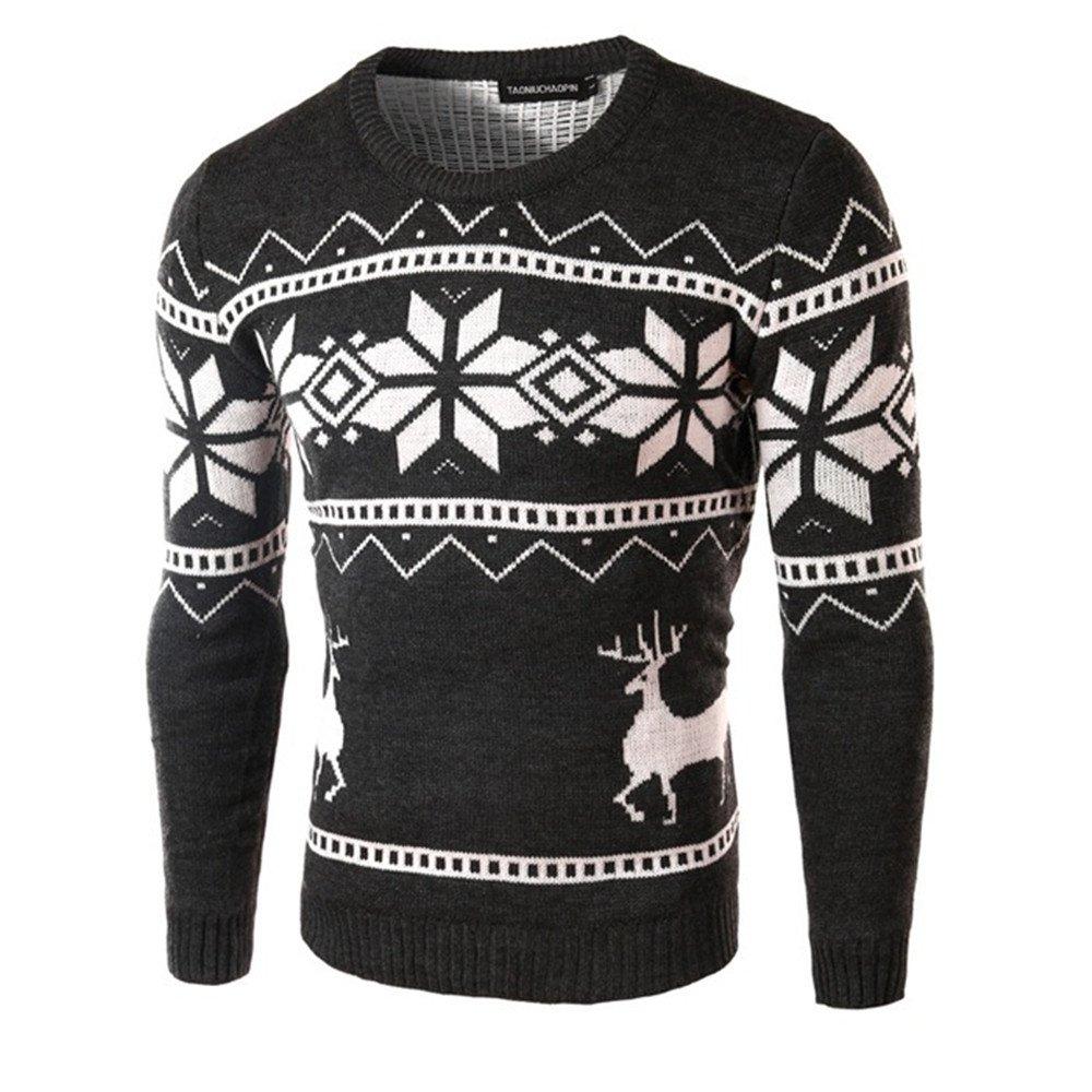 Gndfk männer - Mode - Pullover, britische Jacquard - Pulli,dunkelgrau,XL