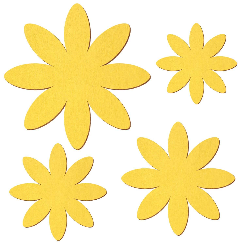 Gelbe Holz Margerite - - - 3-50cm Breite - Streudeko Basteln Deko Tischdeko, Pack mit 100 Stück, Größe 7cm B07NRQ58QX | Glücklicher Startpunkt  9416c6