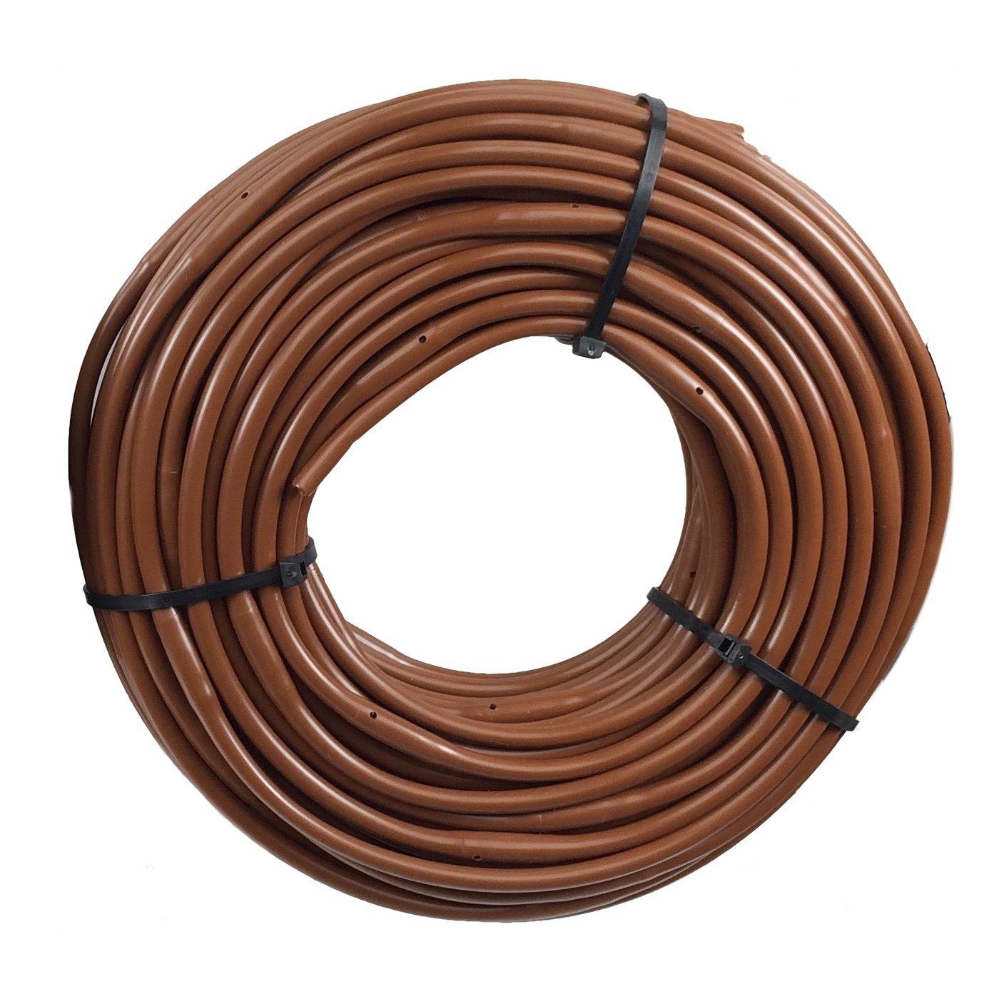 1/4 Poly Dripline 9'' Spacing 0.5 GPH 100' Roll Brown Drip Tubing
