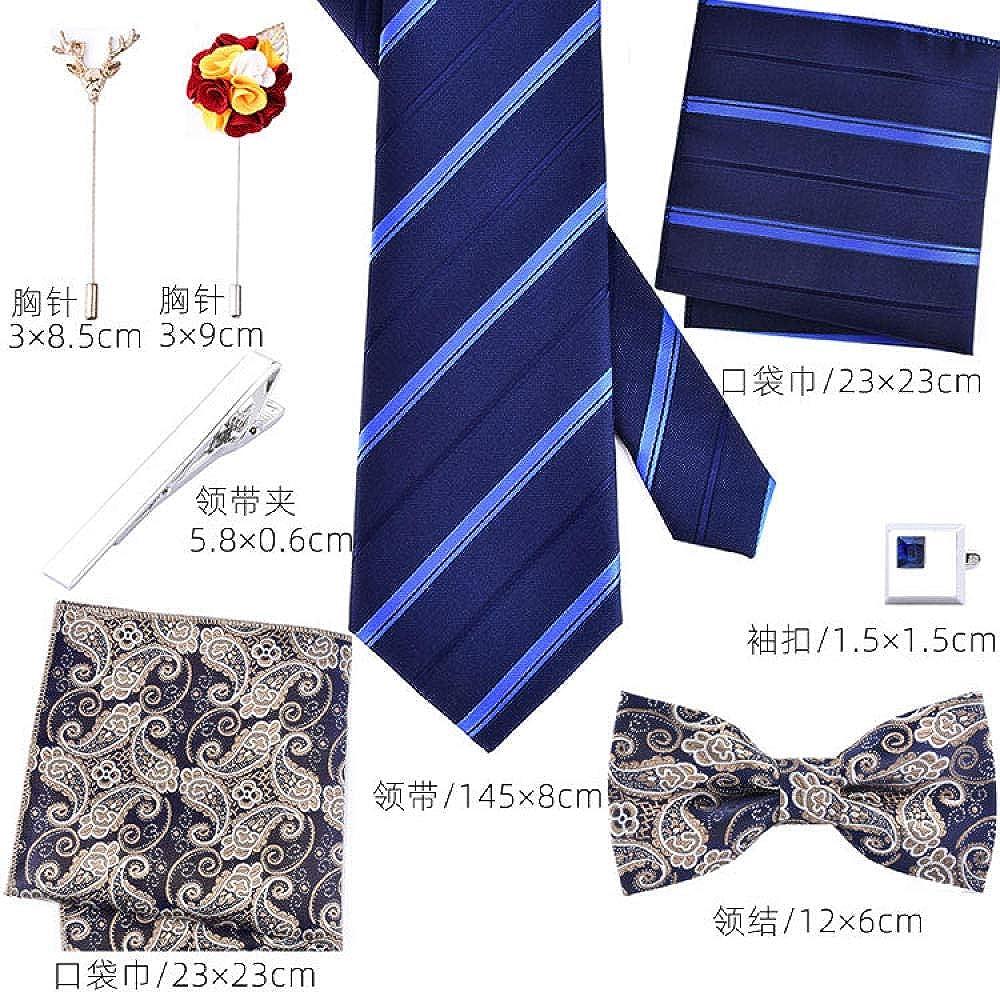 Men'S Ties Pocket Squares Men'S Tie Pins Men'S Formal Business Tie Set 8Cm  British Blue Fashion Red Groom Knot Wedding Boxed: Amazon.co.uk: Clothing