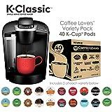 Keurig K55/K-Classic Single Serve Coffee Maker + 40ct Variety Pack of K-Cups (ship separately)