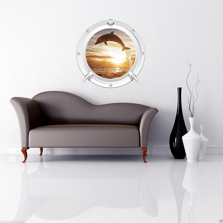Wand Smart Designs wsd582 m Delfin Meer Bullauge Voll Farbe ...