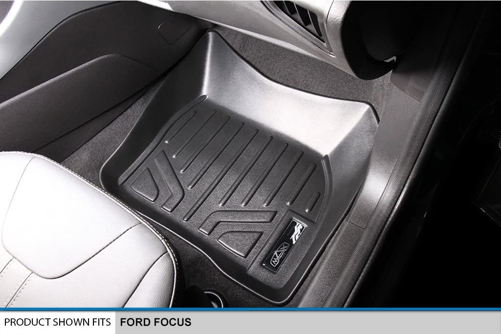 Maxliner USA A0122//B0122 SMARTLINER Floor Mats 2 Row Liner Set Black for 2012-2018 Ford Focus No RS Models