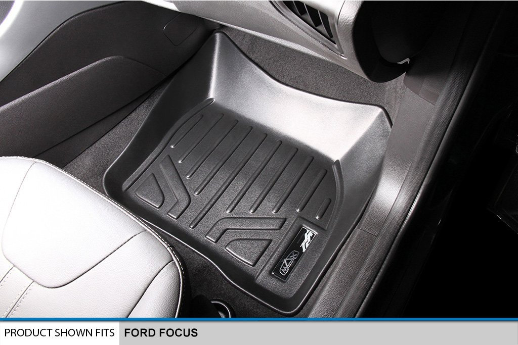 No RS Models Maxliner USA A0122//B0122 SMARTLINER Floor Mats 2 Row Liner Set Black for 2012-2018 Ford Focus