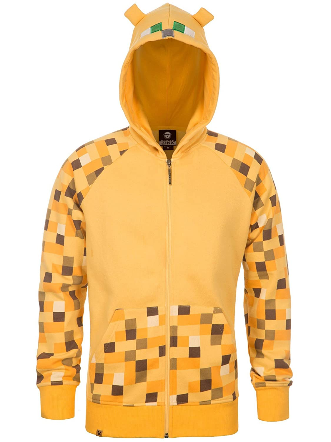 JINX Minecraft Big Boys' Ocelot Premium Zip-Up Hoodie MJMC-05035Y-YW