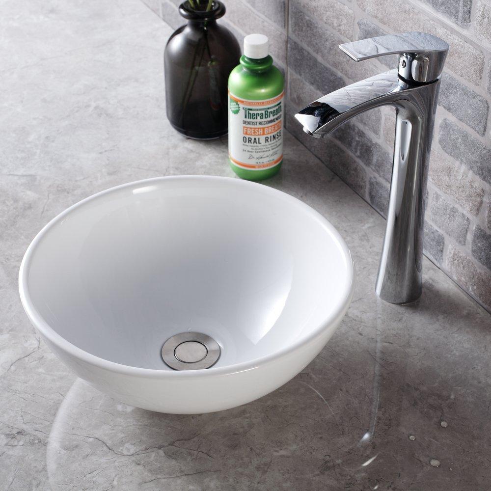 Sarlai Modern Rectangle Above Counter White Porcelain Ceramic Bathroom Vessel Vanity Sink Art Basin