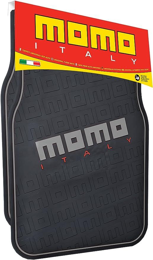 MOMO CM005BG Alfombras Universal para Autom/óviles Negro//Gris