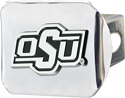 Chromehitch Cover Team Colors Chrome One Sized FANMATS NCAA Oklahoma State Cowboys Hitch Cover