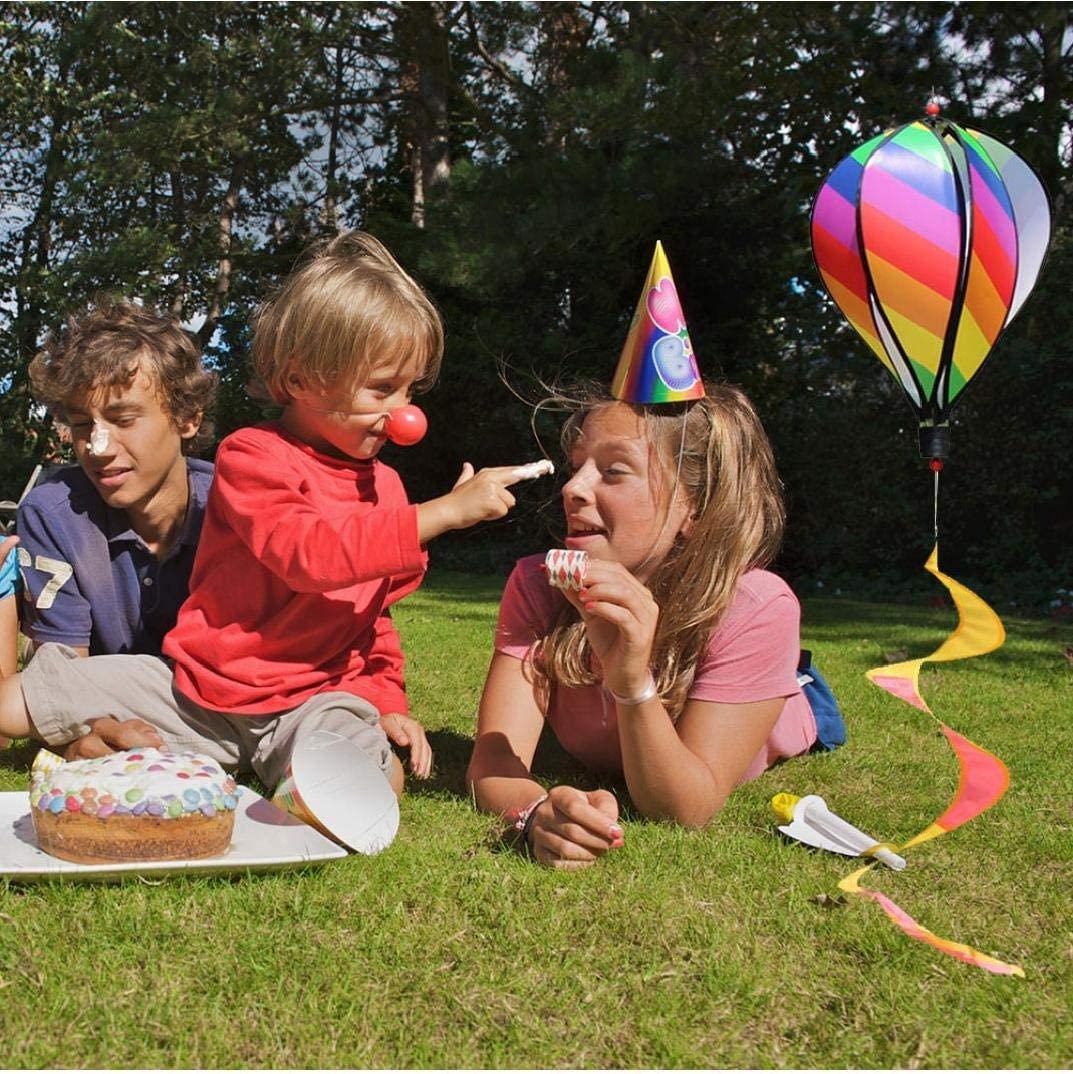 Hot Air Balloon Rotazione Del Vento Striscia Di Mulino a Vento Outdoor Attaccatura a Parco Decoration Ornamenti Del Giardino Arcobaleno