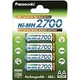 Panasonic BK-3HGAE/4BE panasonic Haute capacité 2700mAh Lot de 4 piles AA/Mignon/LR6 prêtes à utiliser