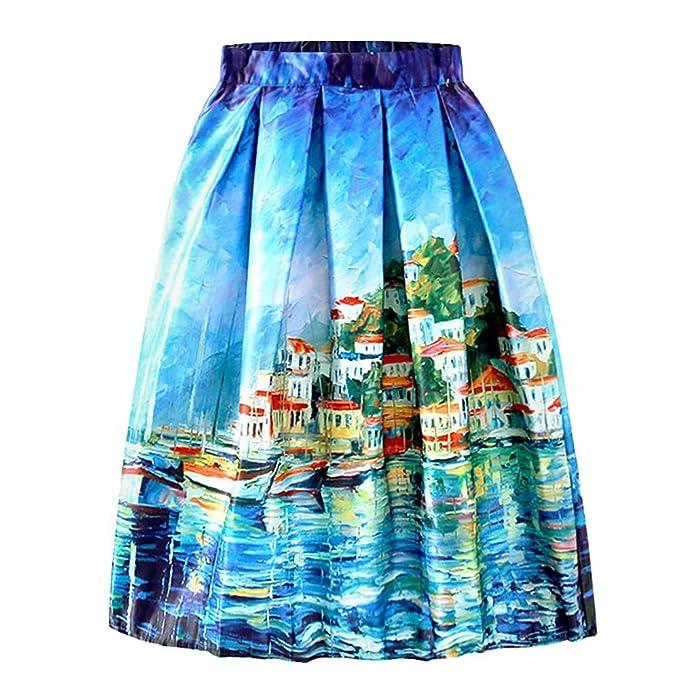 ishine Falda Larga Mujer Faldas Cortas con 5 Estilos  Amazon.es  Ropa y  accesorios 96cbbf29277f