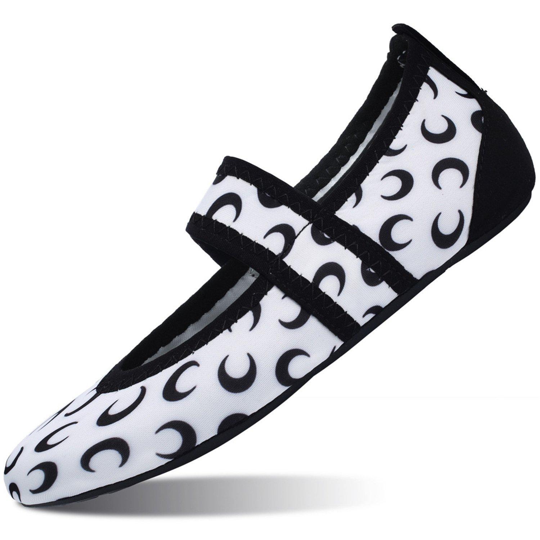99b80d7d00 Ciempiés demonio Zapatos de agua para mujer Oficina de zapatos de casa  Pisos Mens Quick Secado descalzo Calzado Aqua Socks Forma de Luna