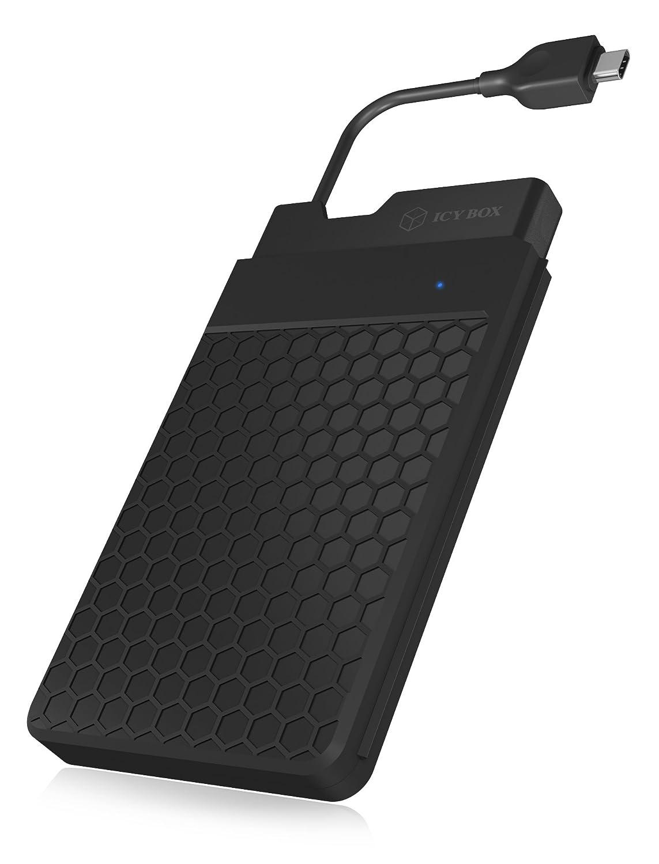 ICY BOX IB-236-C3 Carcasa de Disco Duro/SSD 2.5' Negro - Disco Duro en Red (2.5', USB Tipo C, 9.5 mm, 3.0 (3.1 Gen 1), Carcasa de Disco Duro/SSD, Negro)