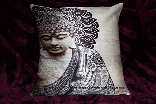 2PCS outdoor throw pillow covers meditation hippie mandala cushion US Seller