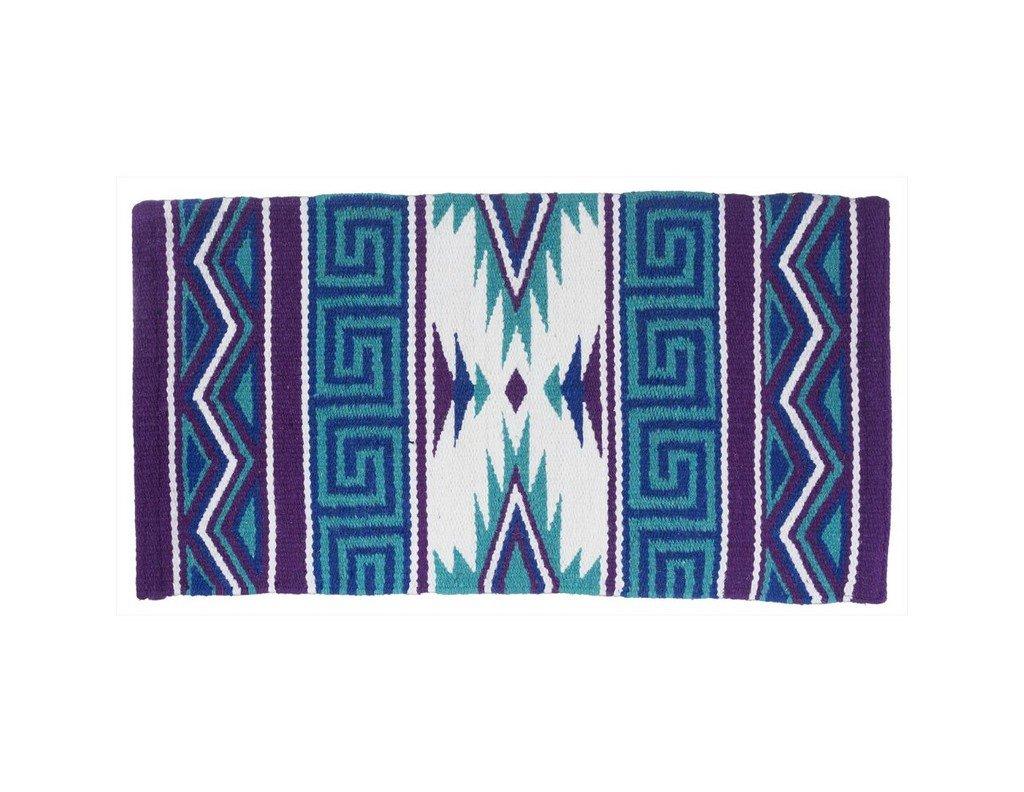Tough 1 Mayan Navajo Wool Saddle Blanket Teal