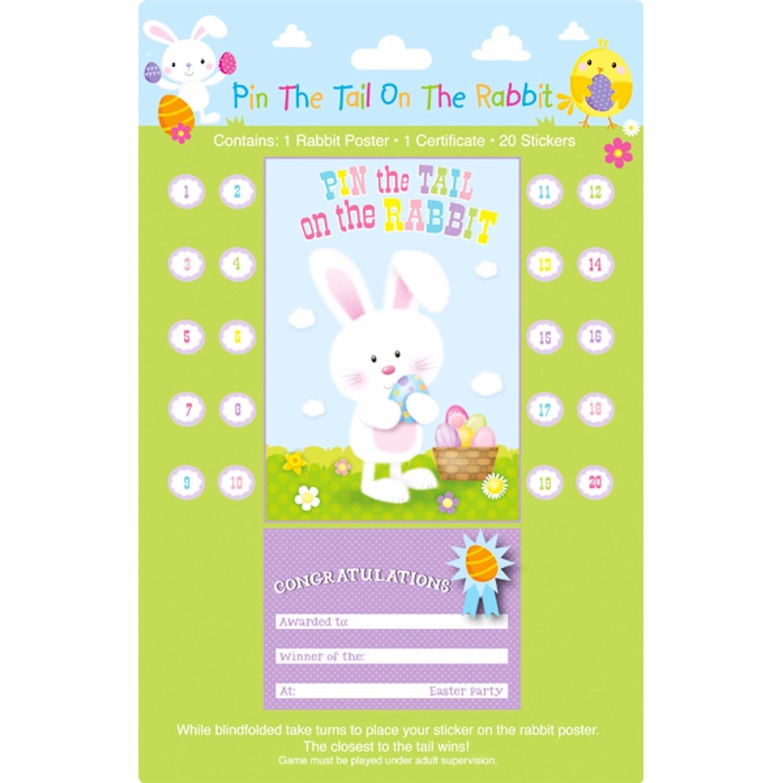 Eurowrap Kinder/Kids Pin der Schwanz auf der Hase Ostern Party Spiel UTSG9934_1