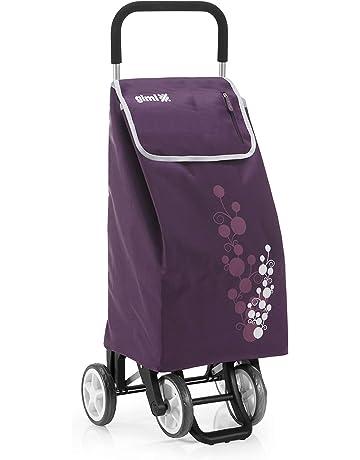 Gimi Twin- Carro de la compra, con 4 ruedas, bolsa impermeable de poliéster