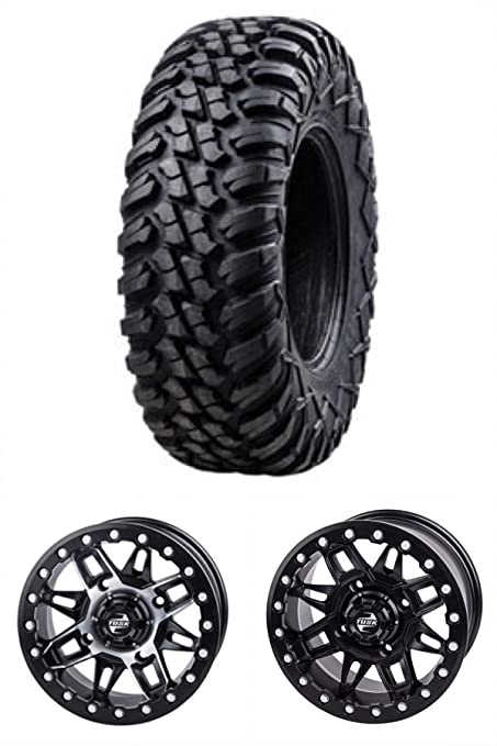 Amazon Bundle Kit Five 40X4040 TUSK TERRABITES Mounted On Magnificent Can Am Bolt Pattern