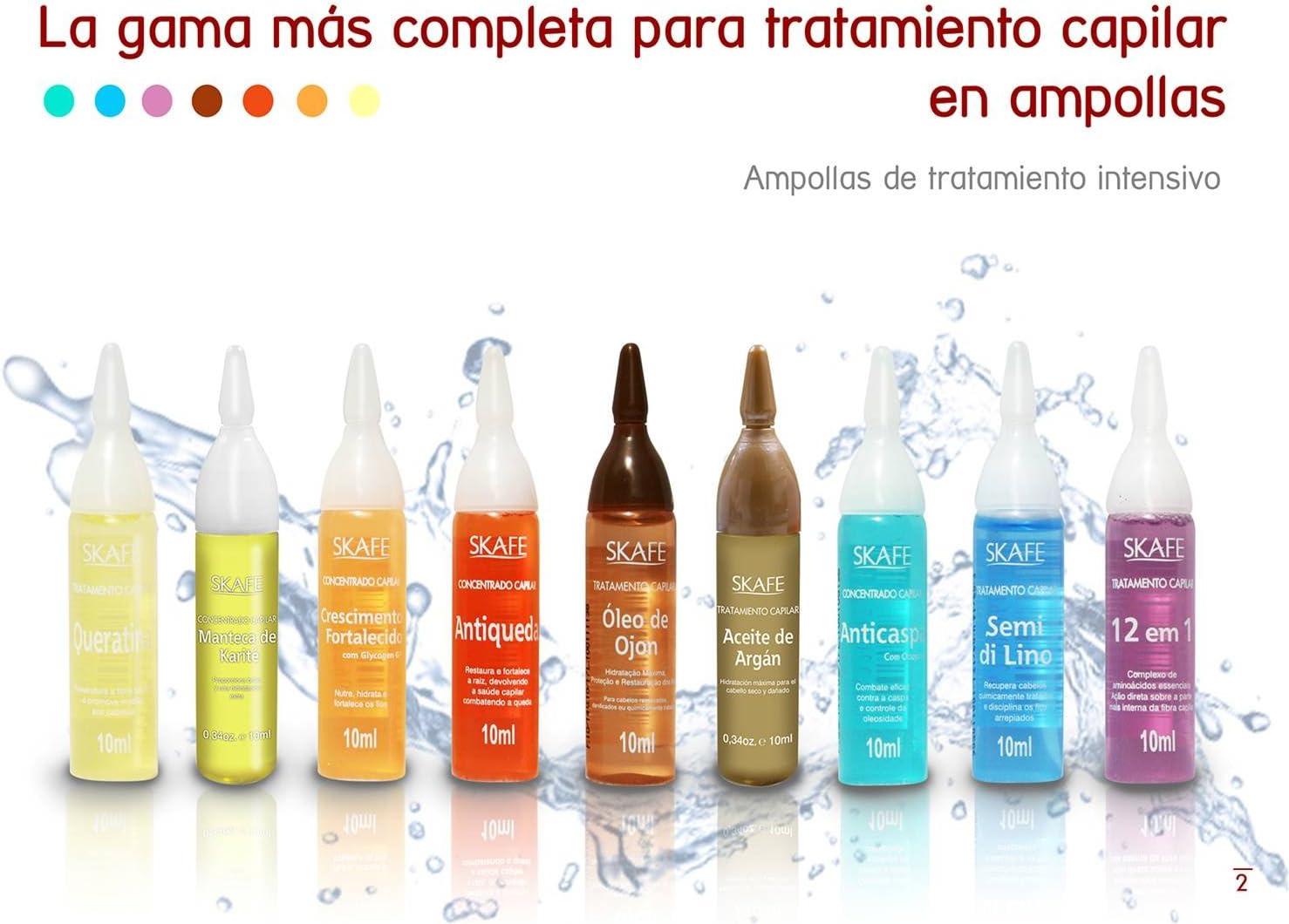 Caja 4 Ampollas de Tratamiento de Manteca de Karité: Amazon.es ...