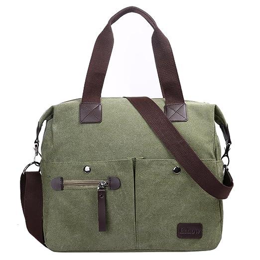 120 opinioni per Eshow borsa da donna di tela da spalla a tracolla multiuso scuola weekend grigio