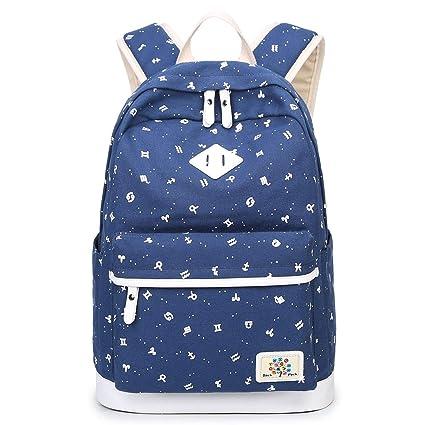 25161c239c School Backpack for Teen Girls Kids Cute Bookbag Cute Bookbag 14 Inch Laptop  Compartment Rucksack Daypack