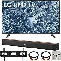 LG 65 Inch UP7000 Series 4K LED UHD Smart webOS TV (2021 Model) Bundle with Deco Home 60W 2.0 Channel Soundbar, 37-70…