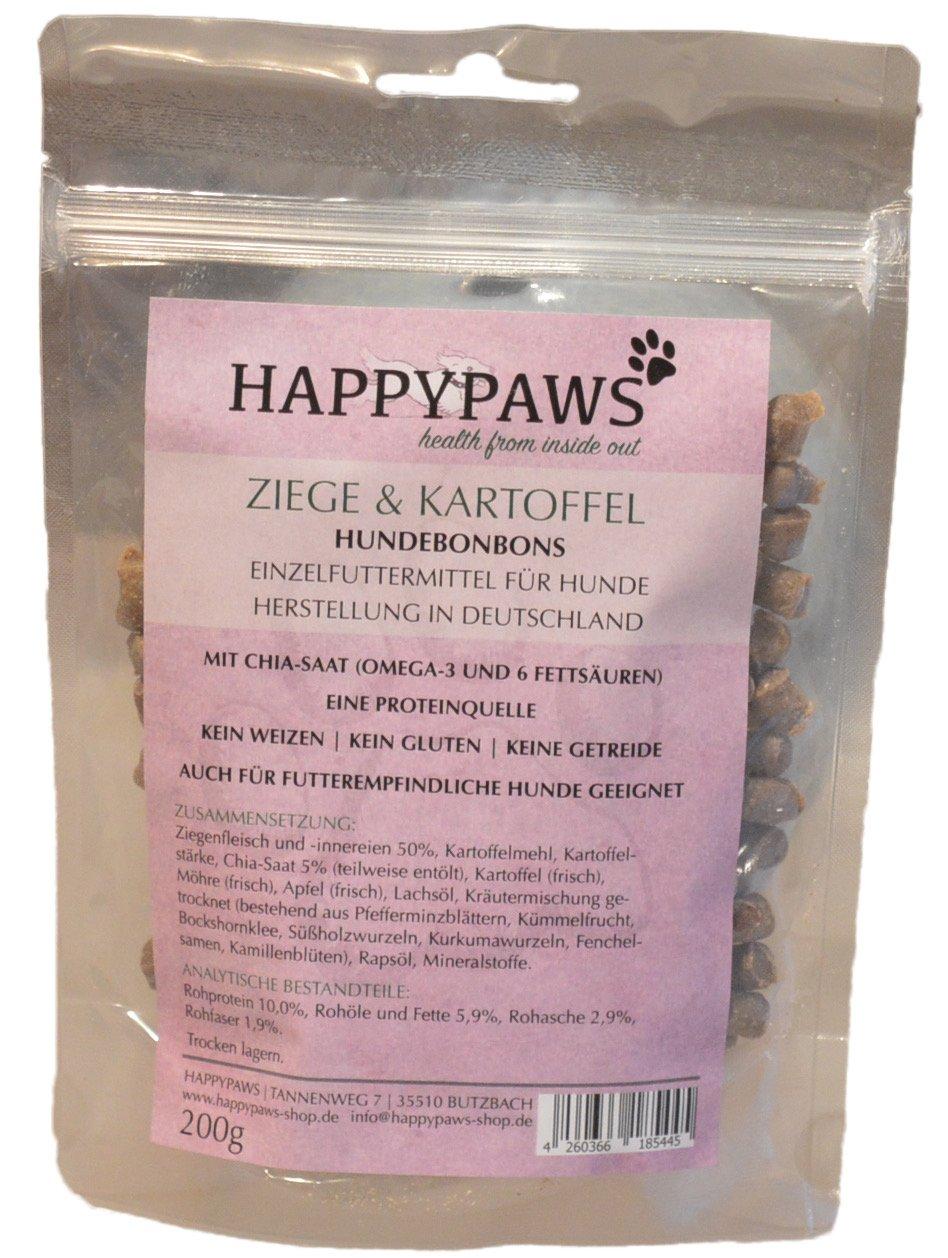 happypaws Perros Caramelos & patatas de cabra | sin cereales ...