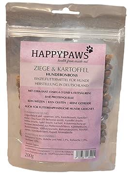 happypaws Perros Caramelos & patatas de cabra | sin cereales | Fabricación Alemana
