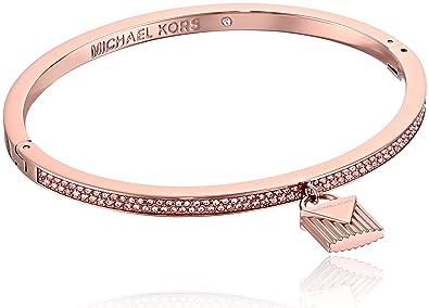 20dd283b01989 Michael Kors  quot Fashion Logo Love Rose Gold-Tone Hinged Padlock Charm  Bracelet