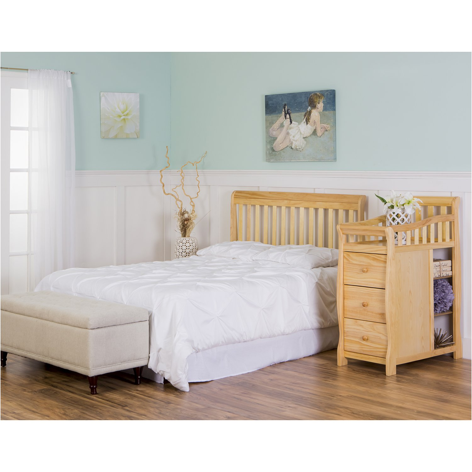 Dream On Me 5 in 1 Brody Convertible Crib with Changer, Natural by Dream On Me (Image #8)