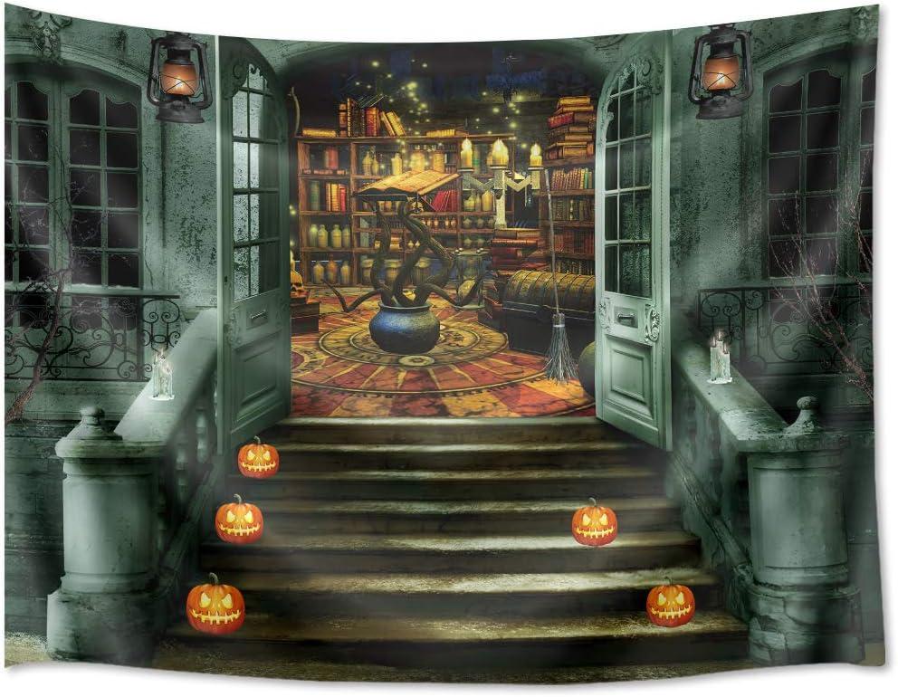 Halloween Lightnings Ancient Castle Tapestry Wall Hanging Living Room Bedroom LB