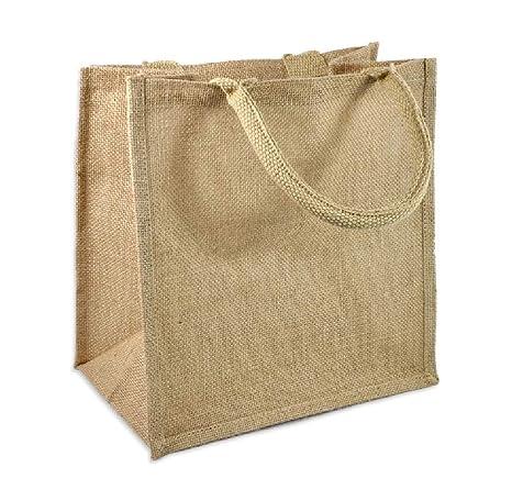Amazon.com: Juego de 6 bolsas de arpillera ecológica en ...