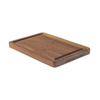 Small Walnut Cutting Board with Juice Groove for Chopping (6 x9 ) Serving and Carving. Reversible with Drip Groove for Food Prep, Meat, Fruit and Vegetables. Chopping Block for your CounterTop.