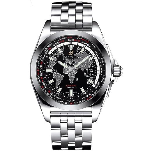 Breitling Galactic Unitime Reloj de hombre automático 44mm WB3510U4/BD94SS: Amazon.es: Relojes