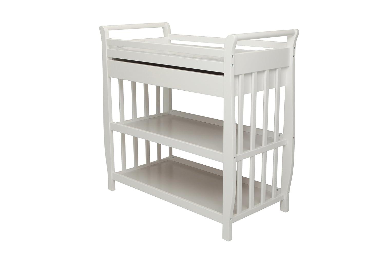 Athena Nadia Baby Changing Table, White 3353W